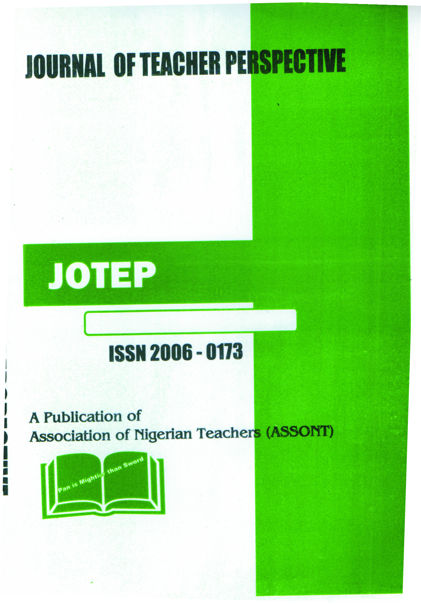 About Journal of Teacher Perspective