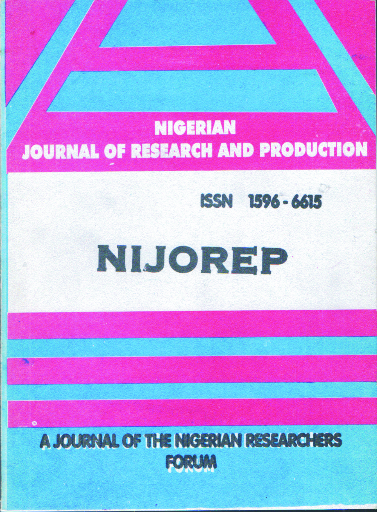 About Nigerian Journal of Research and Production