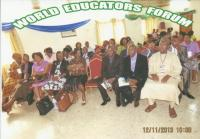 CROSS SECTION OF THE CONFEREES DURING THE 2ND INTERNATIONAL CONFERENCE OF WORLD EDUCATORS FORUM AT HILL VALLEY HOTEL, FREETOWN,